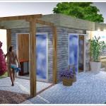Ogrodowa sauna projekt.