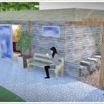 Drewniana sana ogrodowa- projekt