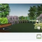 Ogród działkowy wizualizacje.
