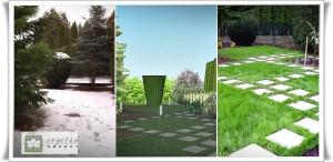 Ogród w Rzeszowie - wizja lokalna-projekt-realizacja