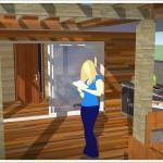 sauna w głębi ogrodu