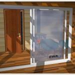 sauna z kominkiem