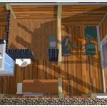ogrdowa sauna widok z góry