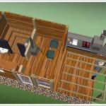 sauna z góry