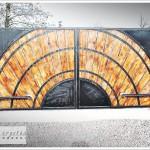 projekt ogrodzenia- brama