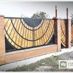 projekt ogrodzenia- drewno stal