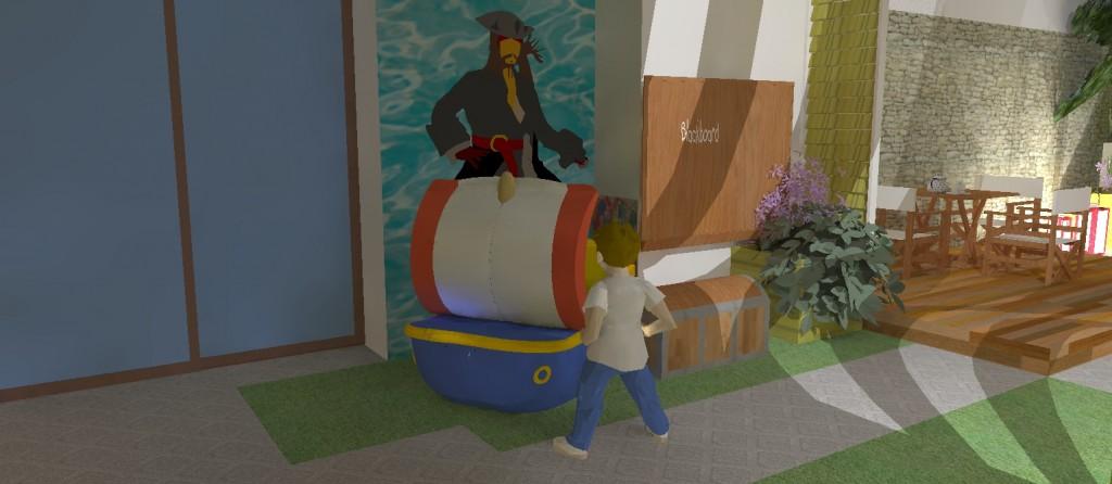 taras kompozytowy kącik zabaz dla dzieci
